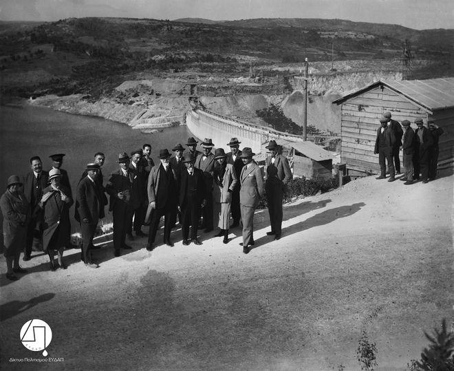 Τα εγκαίνια του Φράγματος του Μαραθώνα, 1929
