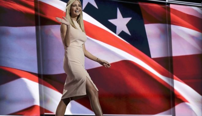 Ivanka Trump, daughter of Republican presidential candidate Donald Trump, walks to the podium during the final day of the Republican National Convention in Cleveland, Thursday, July 21, 2016. (AP Photo/Evan Vucci)