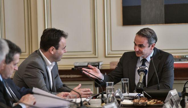 Συνάντηση του Πρωθυπουργού Κυριάκου Μητσοτάκη με το Διοικητικό Συμβούλιο της Κεντρικής Ένωσης Δήμων Ελλάδας