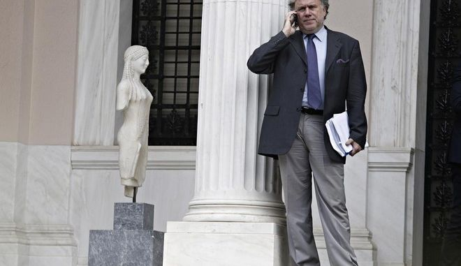 Government councils meeting at the Maximos Mansion for the insurance funds and the banks' recapitalization, in Athens, on Oct. 20, 2015 /           ,   ,  ,  20 , 2015