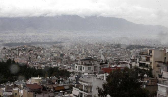 Βροχερός ο καιρός στην Αθήνα. Στις φωτογραφίες αποψη της Αθήνας από ψηλά. Κυριακή 24 Νοεμβρίου 2013,  (EUROKINISSI/ΓΕΩΡΓΙΑ ΠΑΝΑΓΟΠΟΥΛΟΥ)