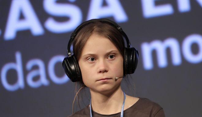 η νεαρή ακτιβίστρια Γκρέτα Τούνμπεργκ