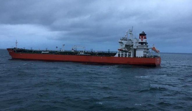 Σύγκρουση δεξαμενόπλοιου με φορτηγό πλοίο στο στενό του Πα-ντε-Καλαί