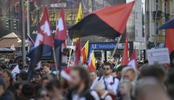Διαδήλωση στο Βερολίνο, 30 Απριλίου 2018