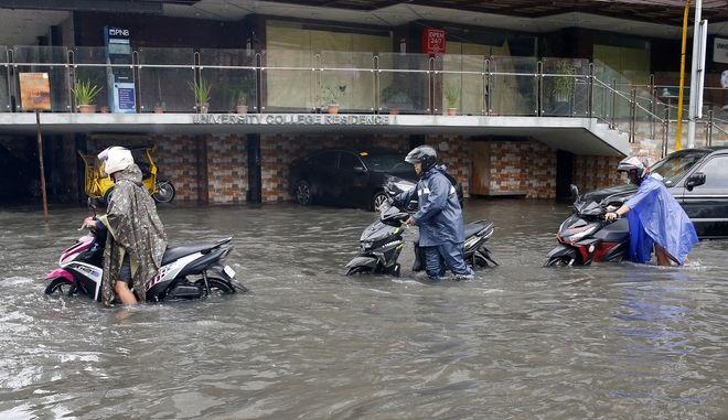 Τυφώνας στις Φιλιππίνες. Φωτό αρχείου.
