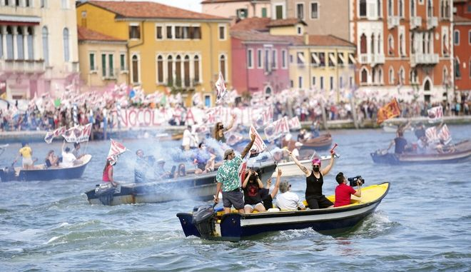 Διαμαρτυρία των κατοίκων της Βενετίας.