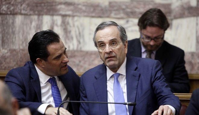 Συνεδρίαση της Κοινοβουλευτικής Ομάδας της Νέας Δημοκρατίας την Τρίτη 9 Μαΐου 2017. (EUROKINISSI/ΓΙΩΡΓΟΣ ΚΟΝΤΑΡΙΝΗΣ)