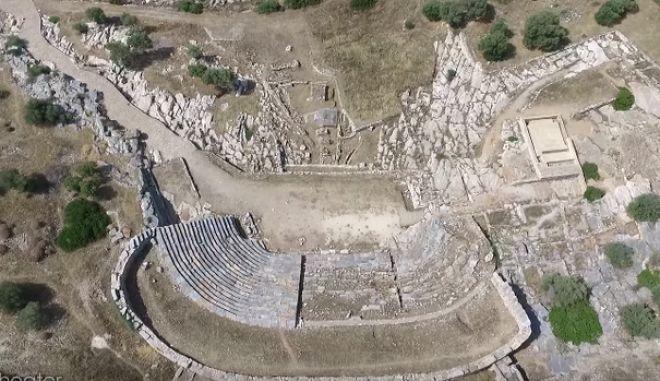Βίντεο Drone: Μαγικές εικόνες από το Θορικό, το αρχαιότερο θέατρο του κόσμου