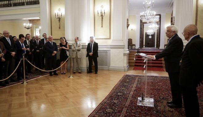 Δεξίωση του Προέδρου της Δημοκρατίας Προκόπη Παυλόπουλου στην Ευρωπαϊκή Ομάδα Δημοσίου Δικαίου