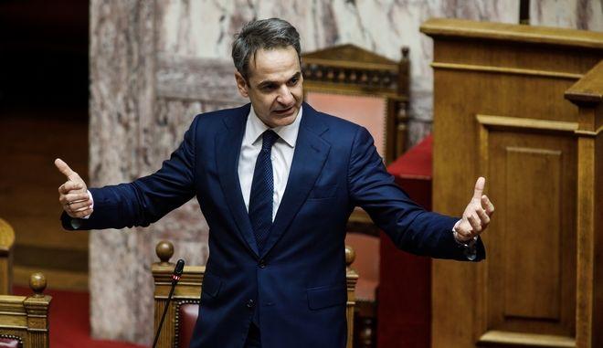O πρωθυπουργός Κυριάκος Μητσοτάκης