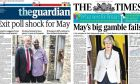 Βρετανικές εκλογές: Τα πρωτοσέλιδα 'βλέπουν' τη Μέι σε κατάσταση σοκ