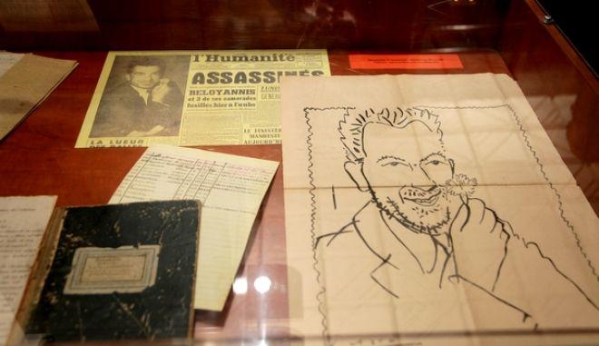 Το περίφημο σκίτσο με τον Νίκο Μπελογιάννη να κρατάει ένα γαρίφαλο