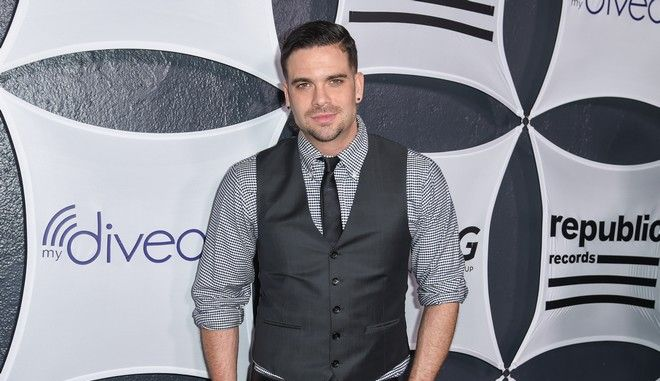 Mark Salling arrives at Republic Records & Big Machine Label Group Private Celebration After Party at The Warwick on Sunday, Feb. 8, 2015, in Los Angeles. (Photo by Rob Latour/Invision/AP)
