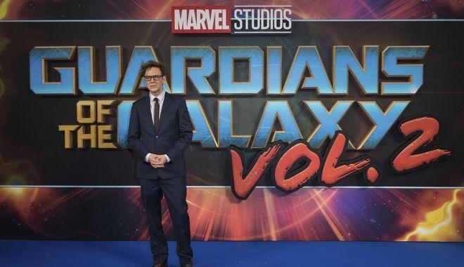 """Ο James Gunn στην πρεμιέρα της ταινίας """"Guardians of the Galaxy 2"""" στο Λονδίνο"""