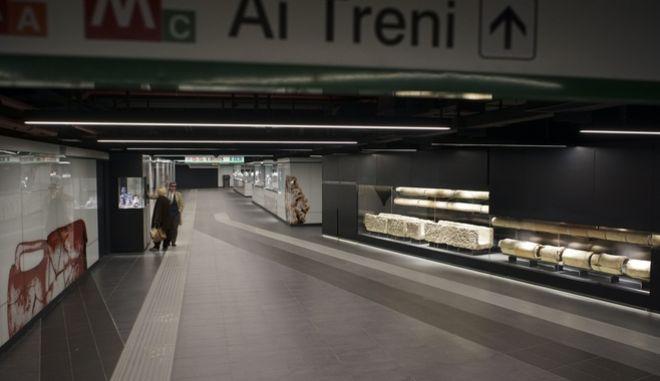 Σταθμός του μετρό στη Ρώμη. Φωτογραφία αρχείου.