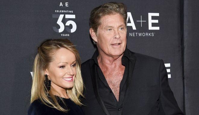Ο David Hasselhoff και η σύζυγός του Hayley Roberts Hasselhoff