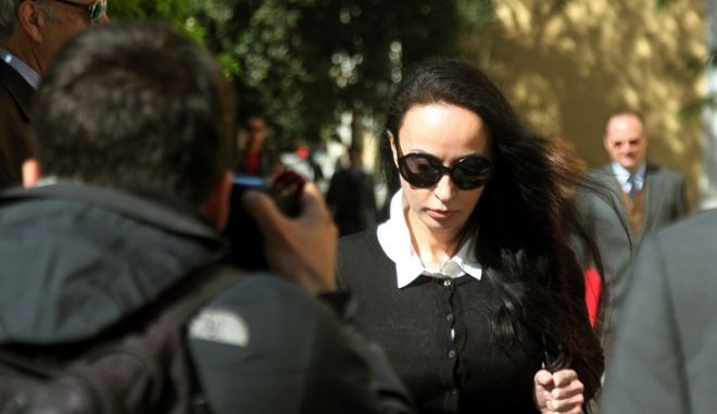 Σήμερα κλήθηκε για απολογία στον ανακριτή η σύζυγος του πρώην Υπουργού 'Ακη Τσοχατζόπουλου Βίκη Σταμάτη,Πέμπτη 19 Απριλίου 2012 (EUROKINISSI/ΓΕΩΡΓΙΑ ΠΑΝΑΓΟΠΟΥΛΟΥ)