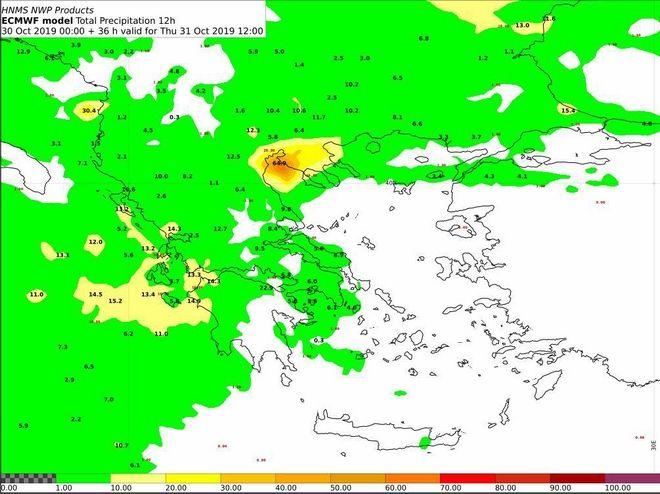 Έκτακτο Δελτίο Επιδείνωσης Καιρού: Έρχονται άνεμοι, βροχές και χαλάζι από σήμερα