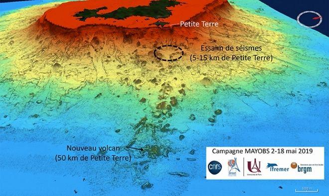 Ηφαιστειακό βουνό στο βυθό του Ινδικού ωκεανού