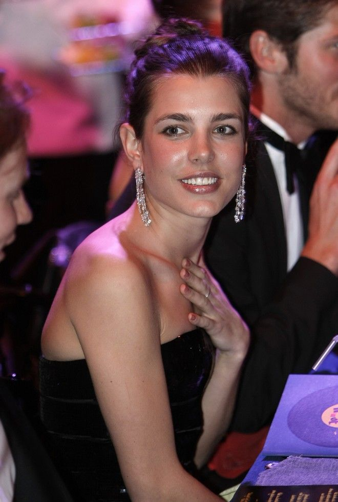 Daughter of Princess Caroline of Hanover, Charlotte Casiraghi attends to the