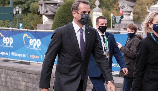 Ο Πρωθυπουργός Κυριάκος Μητσοτάκης στις εργασίες της Συνόδου Κορυφής των ηγετών των κρατών μελών της Ευρωπαίκής Ένωσης