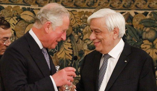 Επίσημο γεύμα προς τιμήν του πριγκιπικού ζεύγους του Ηνωμένου Βασιλείου, Πρίγκιπα της Ουαλίας Καρόλου και Δούκισσας της Κορνουάλης Καμίλας, από τον ΠτΔ Προκόπη Παυλόπουλο