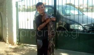 Χανιά: 10χρονος ψάρεψε θράψαλο γίγας