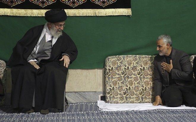Ο Qassem Soleimani και ο Ayatollah Ali Khamenei