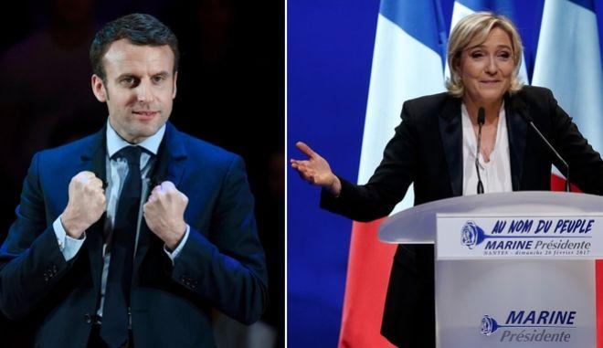 Γαλλικές εκλογές: Φαβορί ο Μακρόν, σταθερή η Λεπέν