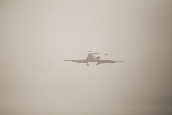 View of the Athens International Airport El. Venizelos, clouded by a thick layer of dust that has been carried from Africa by the southern winds, in Athens, on March 23, 2016 /             . ,  ,  23 , 2016