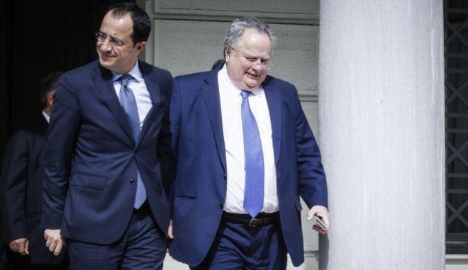 Με τον νέο υπουργό Εξωτερικών της Κυπριακής Δημοκρατίας, Νίκο Χριστοδουλίδη, συναντήθηκε ο Έλληνας ΥΠΕΞ, Νίκος Κοτζιάς