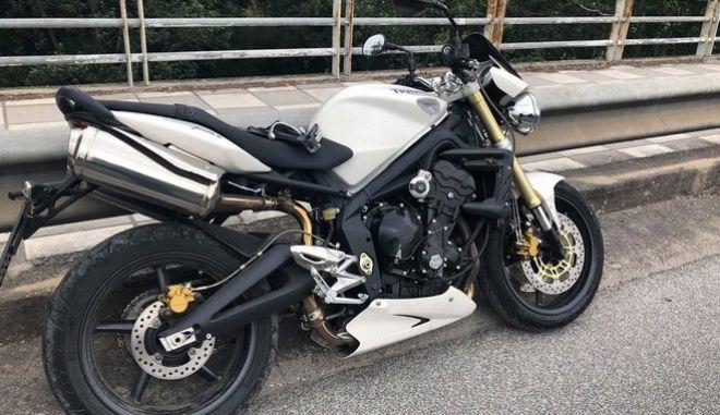 Η μηχανή του άτυχου μοτοσικλετιστή