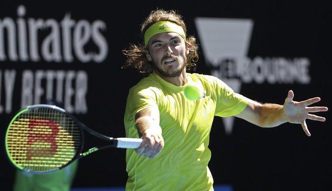 Ο Στέφανος Τσιτσιπάς στο Australian Open