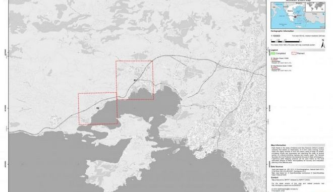Χαρτογραφούνται άμεσα οι πληγείσες από την πλημμύρα περιοχές στην Δυτική Αττική