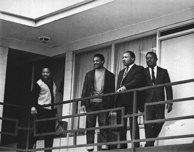 Ο Μ.Λ.Κινγκ στο Λοραίν Μοτέλ μία μέρα πριν την δολοφονία του