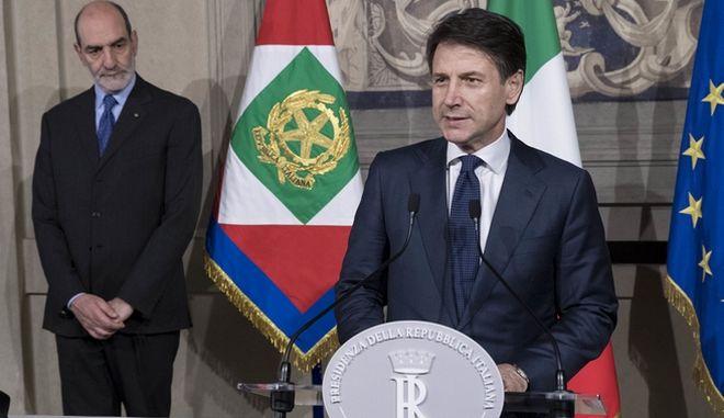 Ο νέος πρωθυπουργός της Ιταλίας Τζουζέπε Κόντε