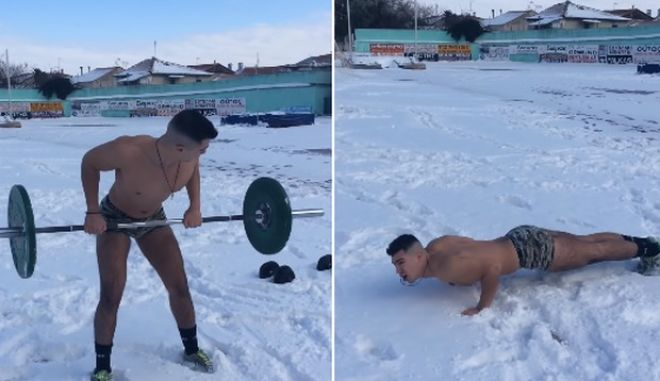 Ο Αγάπη Μόνο ετοιμάζεται γυμνός στο χιόνι για reality επιβίωσης
