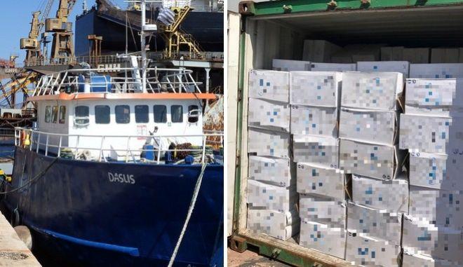 Σύρος: Ρεσάλτο του Λιμενικού σε πλοίο με λαθραία τσιγάρα - 6 συλλήψεις