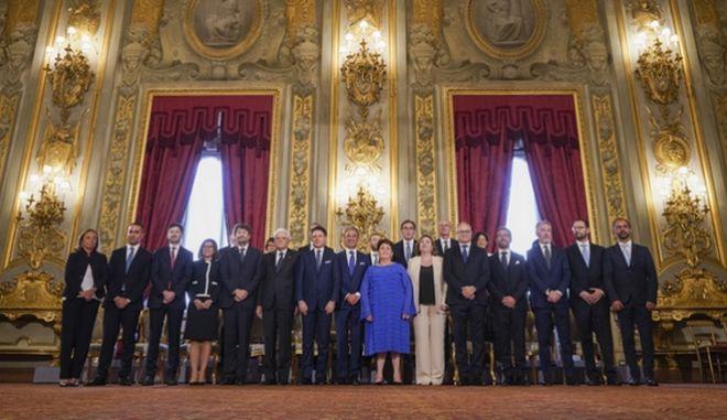 Η νέα ιταλική κυβέρνηση.