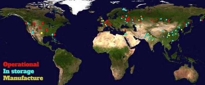 Χάρτης: Πόσο κοντά ζεις σε πυρηνικά;