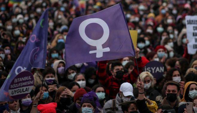 Διαδηλώσεις για τα δικαιώματα των γυναικών στην Τουρκία