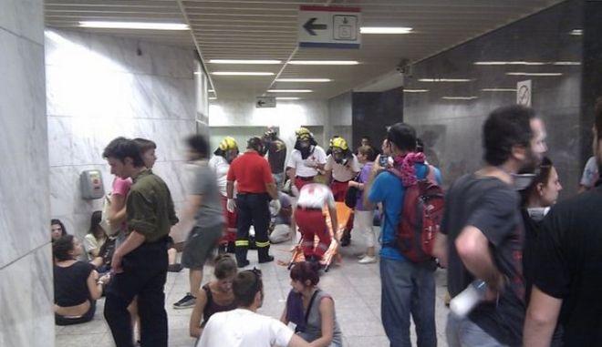 Σκηνές τρόμου στο Μετρό
