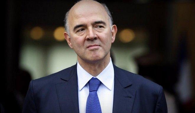 Ο Γάλλος Επιτρόπος Οικονομικών Υποθέσεων της Ε.Ε., Πιερ Μοσκοβισί