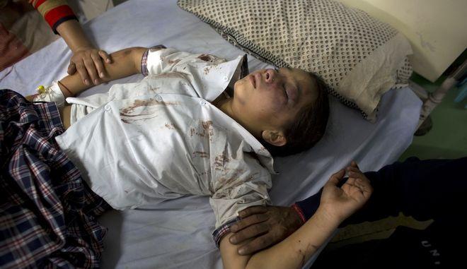 O Kanika Pathania, ένα από τα παιδιά που κατάφερε να επιβιώσει του δυστυχήματος και νοσηλεύεται με πολλά τραύματα