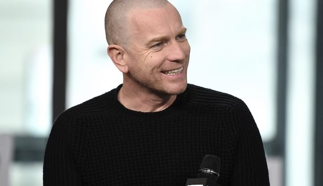 "Actor Ewan McGregor participates in the BUILD Speaker Series to discuss the film, ""T2 Trainspotting"", at AOL Studios on Tuesday, March 14, 2017, in New York. (Photo by Evan Agostini/Invision/AP)"