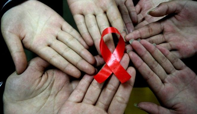 AIDS/HIV (Photo credit should read STR/AFP/Getty Images)