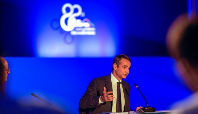 Press conference by Kyriakos Mitsotakis on the margin of Thessaloniki International Fair, in Thessaloniki, on Sep. 17, 2017 /         ,  ,  17 , 2017