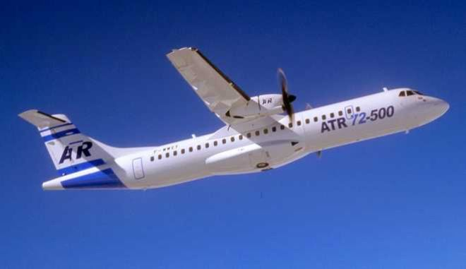 ** FILE ** An ATR 72, built by European aerospace industries,  is seen in this May 2005 file photo. A similar  passenger ATR 72  flown by a Tunisian company  crash landed in the sea Saturday, Aug. 6, 2005, off the Sicilian coast on a flight from Bari, Italy, to Djerba, Tunisia. Palermo port officials said at least 22 people survive the crash landing. (AP Photo/Pascal Le Doare/EADS ATR)