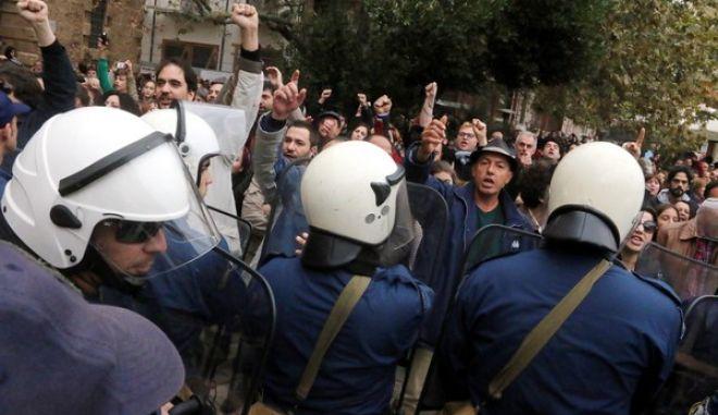 Συγκρουσεις,Αστυνομια,Διαμαρτυριες,Ναυπλιο,Σαμαρα,Πλατεια