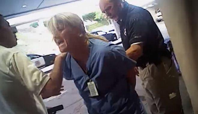 Συνέλαβαν βίαια νοσοκόμα επειδή απλά έκανε τη δουλειά της